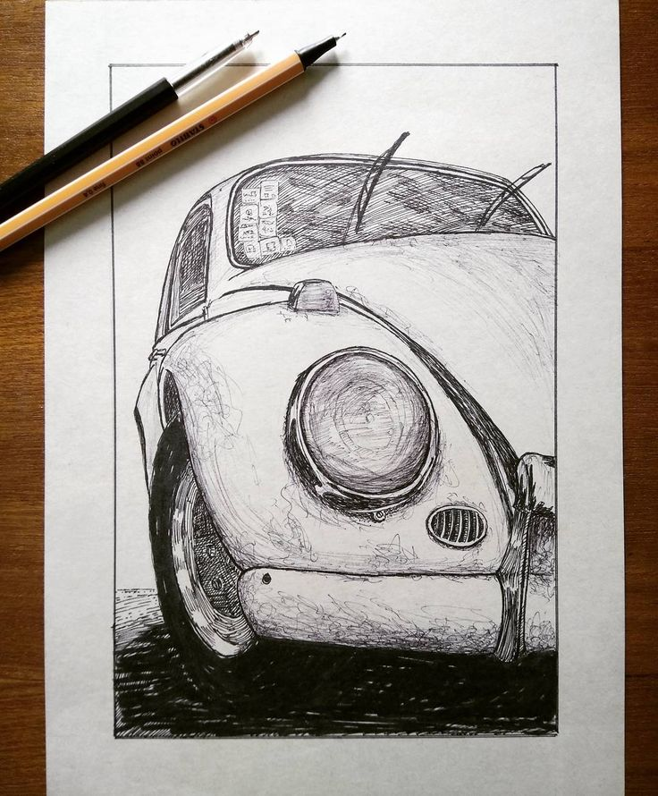 Old Beetle - Ink and ballpen on paper. . . #pen #penart #pendrawing #pensketch #ink #inkdrawing #inksketch #ballpen #ballpenart #artoftheday #volkswagen #beetle