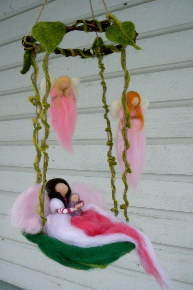 Маленькие войлочные феи - Ярмарка Мастеров - ручная работа, handmade
