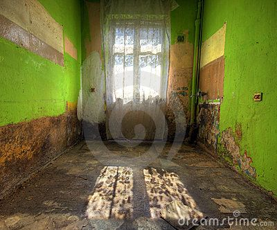 HDR image of the interior of a abandoned room in horrible, terrible mold (after…