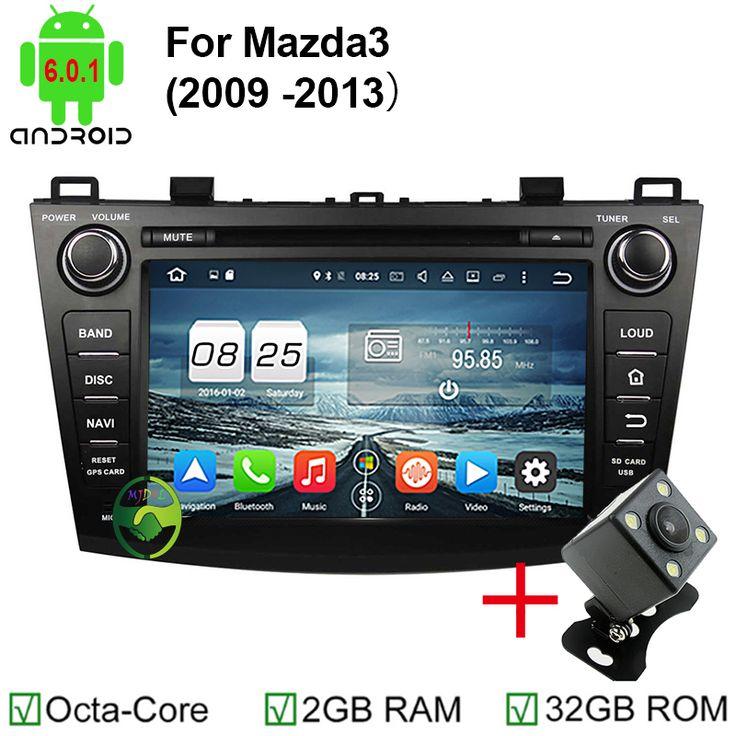 2GB RAM Octa Core 1024*600 Head Unit Android 6.0.1 Car DVD GPS For Mazda 3 2009 2010 2011 2012 Autoradio Multimedia Audio Stereo