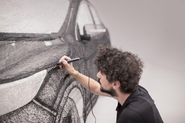 Kingston University students create groundbreaking 3D pen sculpture of Nissan car | Creative Boom