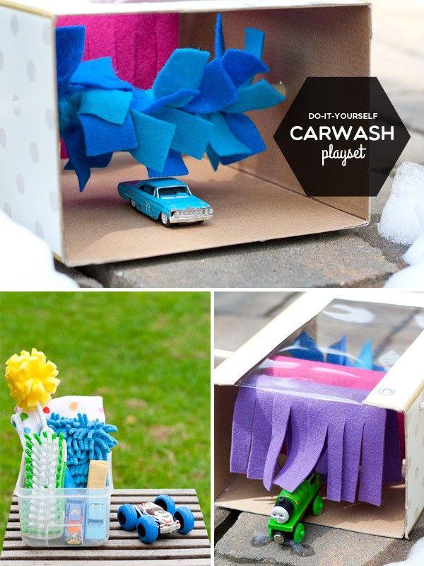 DIY Carwash Playset. so cute!