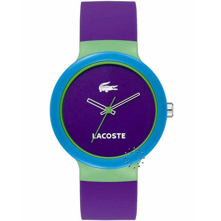 LACOSTE GOA Purple Rubber Strap  61€  http://www.oroloi.gr/product_info.php?products_id=23251