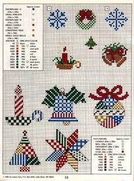 patchwork ornaments / good for holiday tissue box covers (either tall squares or enlongated big boxes)