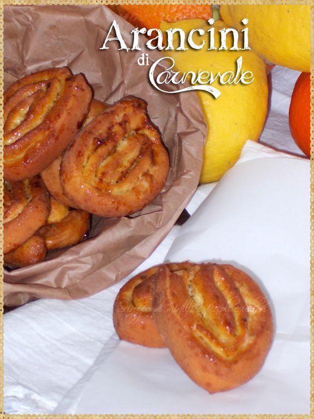 Arancini di Carnevale (Italian Carnival Fritters. Orange Pinwheel Pastries, typical of Marche) #Carnival #sweets