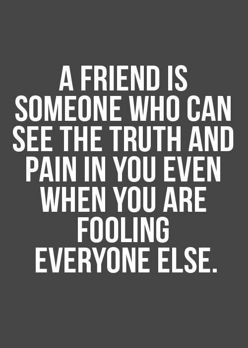 A true friend. Tap to see more real friendship quotes & send to your true friends! - @mobile9