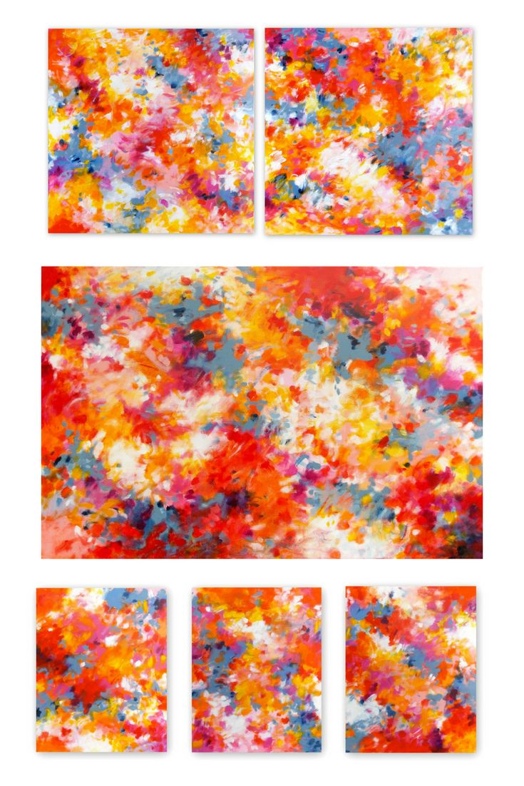 Abundance I, II, III by Jessica Torrant. Contemporary Abstract Expressionist paintings for a modern home.