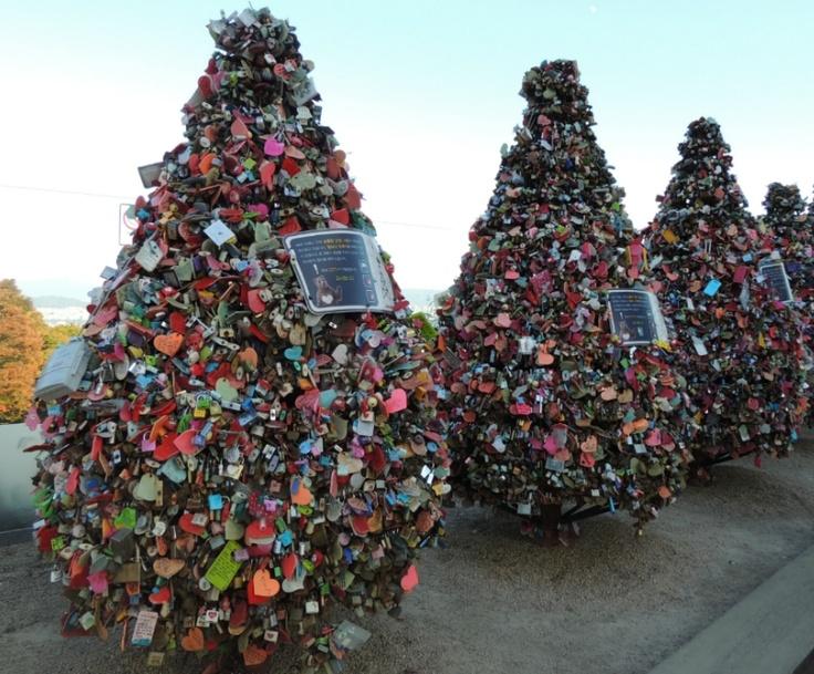 N'Seoul Tower's Tree with Love Padlocks