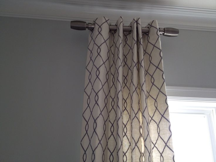 Draperies and short curtain rods