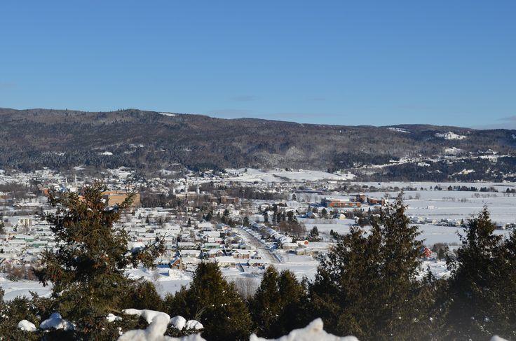 Vue du village en hiver - Baie-Saint-Paul