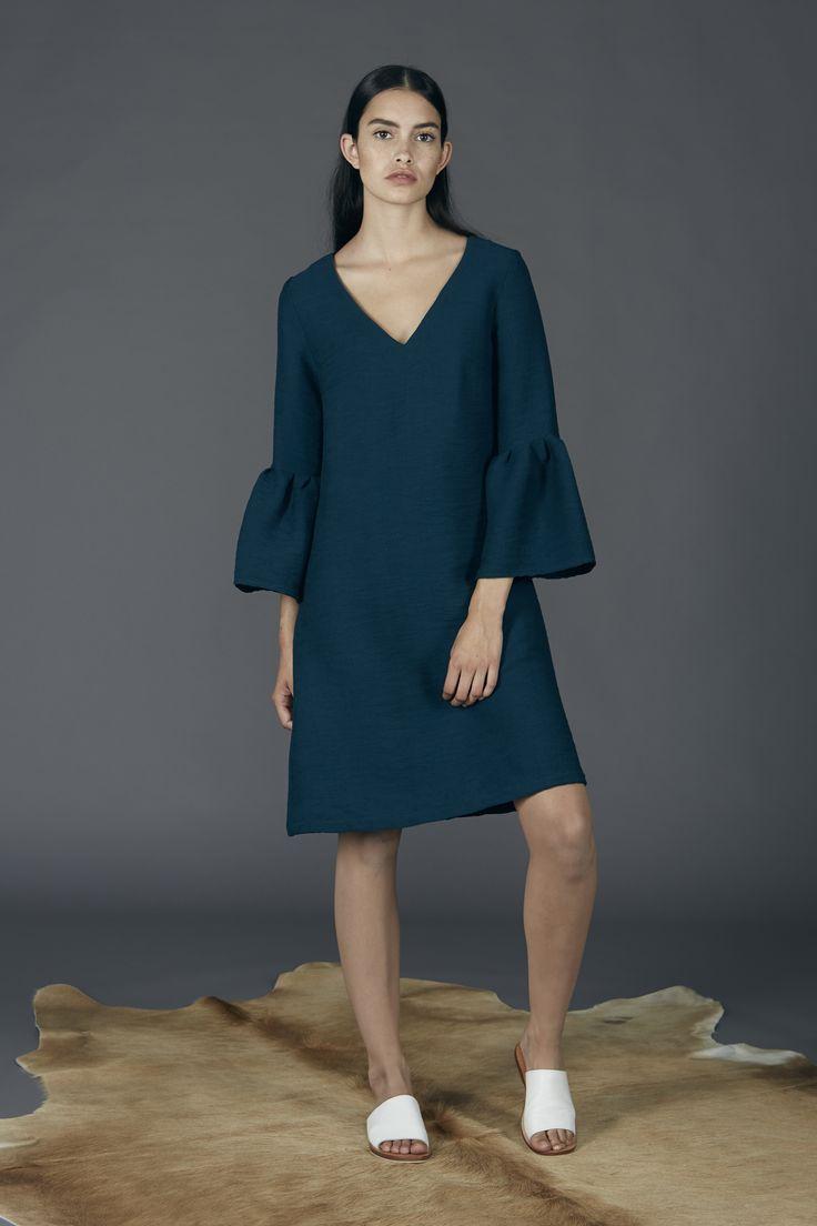 Clementine Dress - Petrol Green