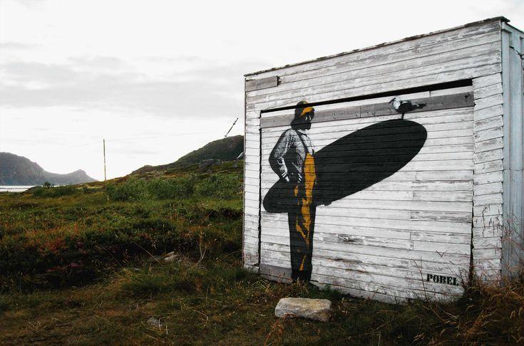 Street art, Pøbel, Lofoten in Norway