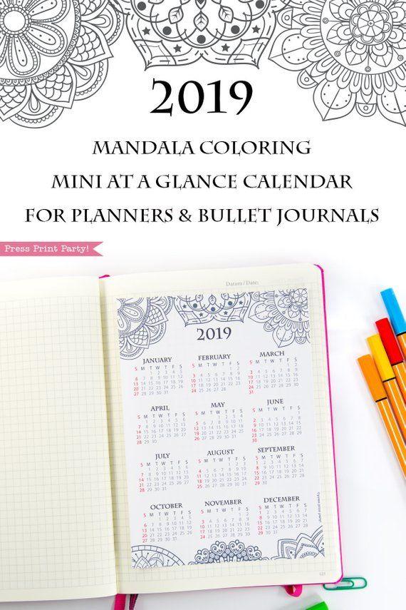 start the year organized by using this fun mandala