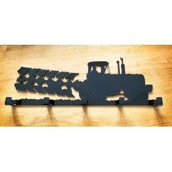 Tractor and plough coat rack