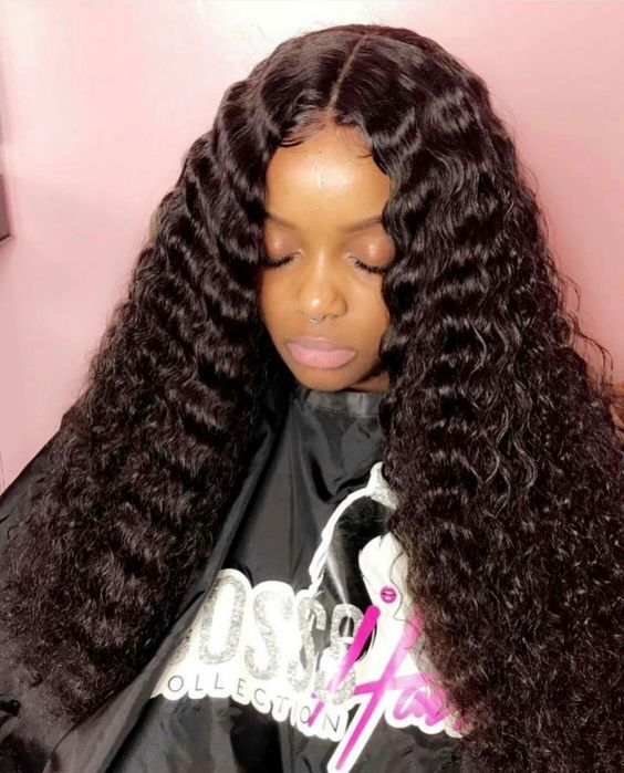 Softest Deep Wave Hair Natural Curly Prom Hair Black Hair Wave Weave Hair Waves Deep Wave Hairstyles Weave Hairstyles