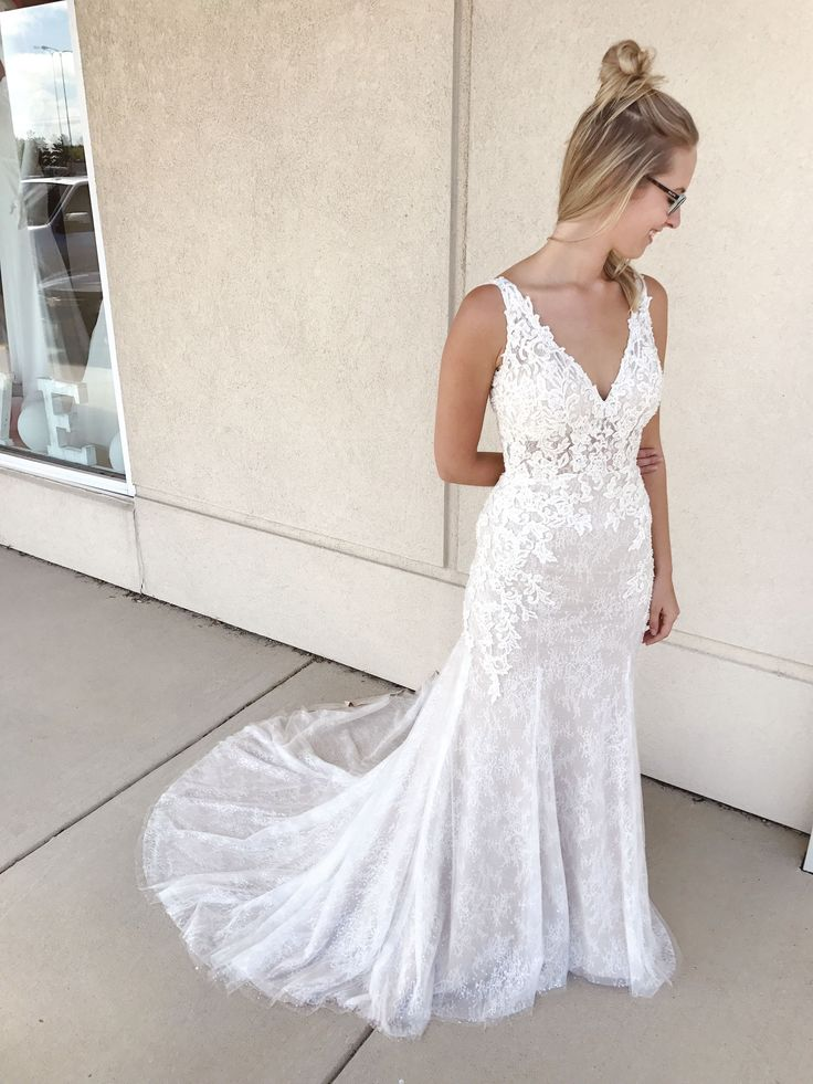 Layers of Net over Chantily Lace and Sequined Tulle Create This Beautifully Intricate Wedding Gown. (Style: 8180 | Designer: Mori Lee) #SYTTD #MichellesBride #MichellesBridalandTuxedo #MoriLee