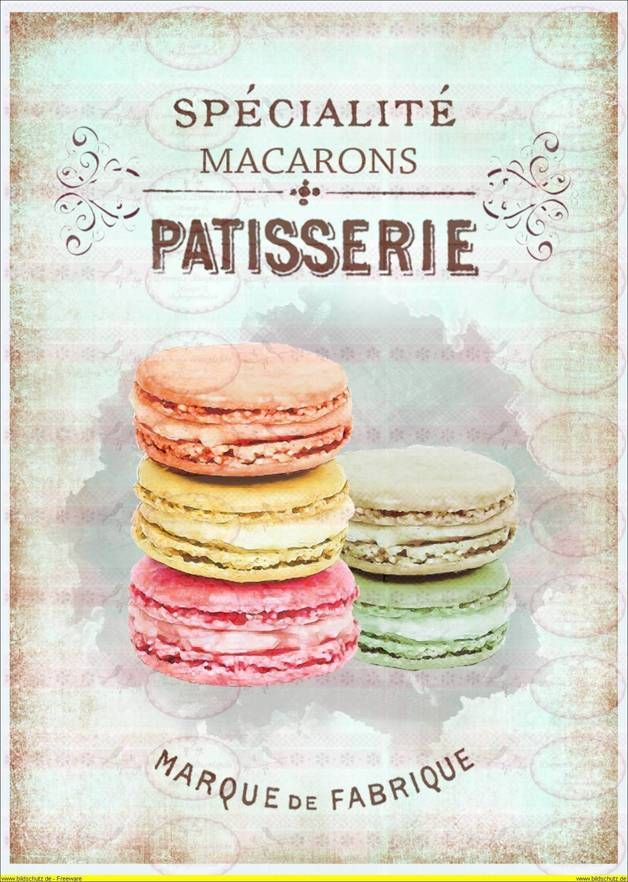 Vintage Cupcake Kuchen french Paris  A4