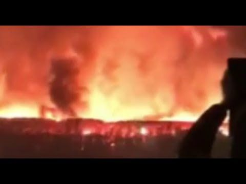 """London """"Paint Factory"""" Warehouse Fire Update - Glowing Steel Anomaly Que..."""