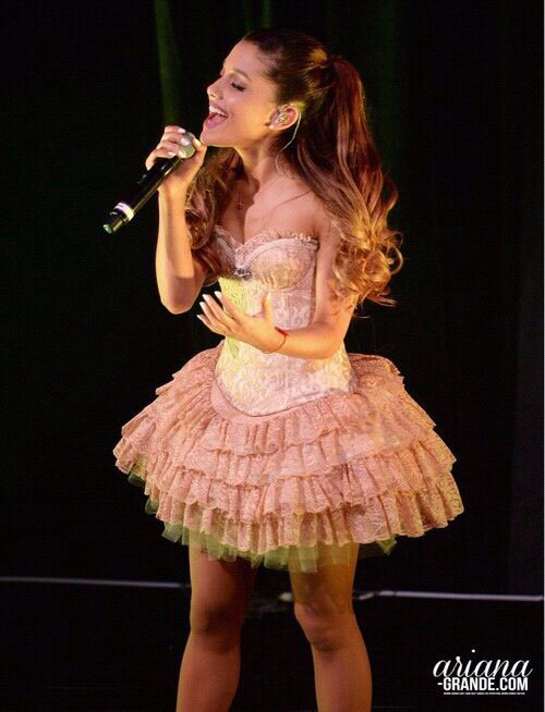 "Ariana...(mini version of the ""right there"" dress in her music video)"