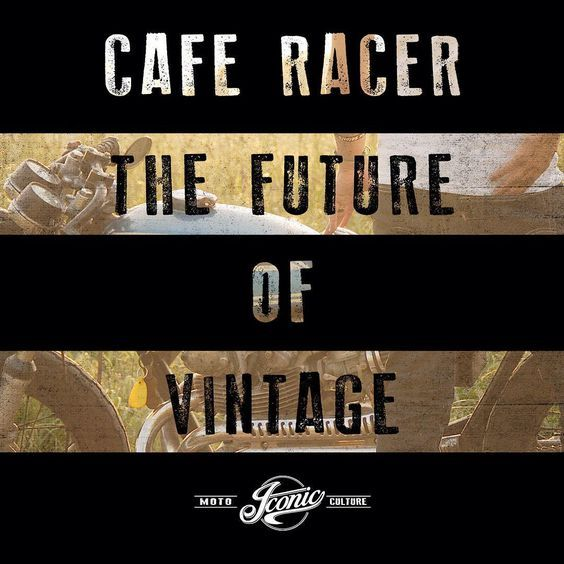 Cafe Racer - The Future of Vintage. For the love of the Moto Culture. www.iconicmoto.com #motorcycles #caferacer #motoculture #moto #vintagemotorcycle #motoapparel #iconicmoto #caferacersofinstagram #vintage #gofast #art #graphicdesign