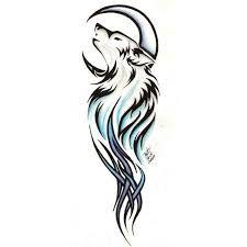 Resultado de imagen para tatuajes de lobos tribales