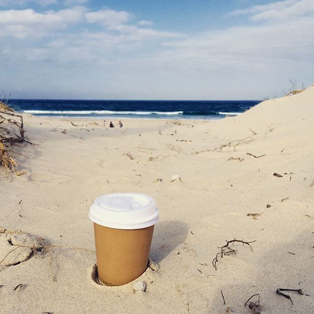 Perfect morning for a coffee at Tallebudgera beach