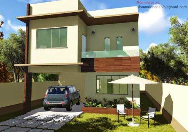 Planos de casas gratis y departamentos en venta plano de - Casas de dos plantas ...