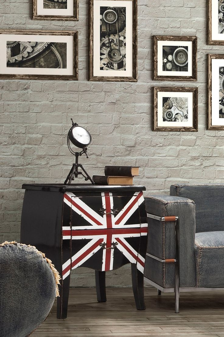 Union Jack Small Distressed Black Cabinet by Zuo Era on @HauteLook
