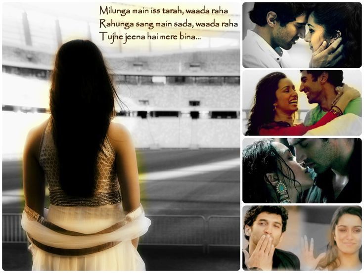 "A quote from the song  ""Bhula Dena"" from Aashiqui 2"