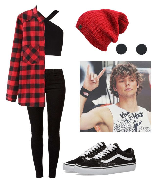 """""""Party With Ashton"""" by ashfie ❤ liked on Polyvore featuring BCBGMAXAZRIA, Dorothy Perkins, WithChic, Vans, party, vans, flannel and ashtonirwin"""