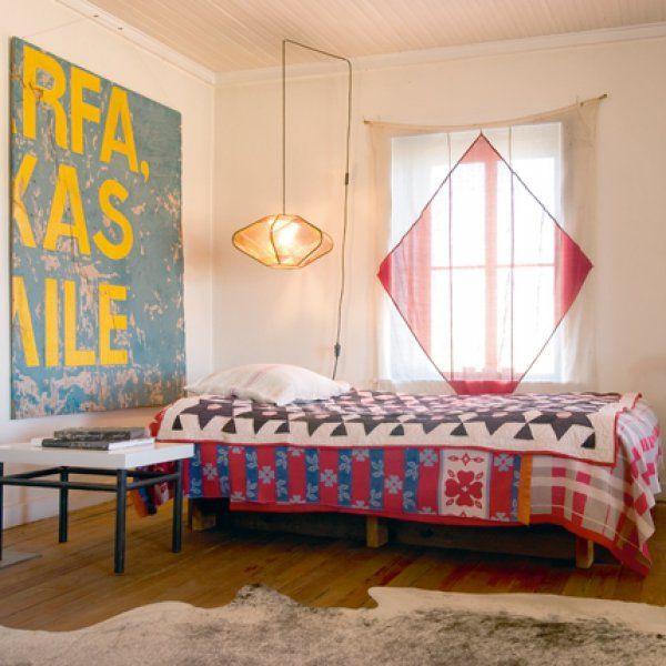 Une chambre d' amis en patchwork / Marie Claire Maison