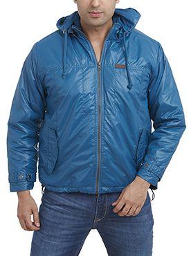 Bright blue trendy jacket