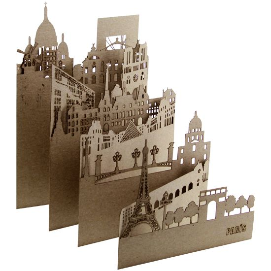 """PARIS"" paper cut from the ""Pocket Cities"" series, designed by Salsarela"