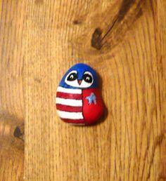 Hand painted rock, American flag   Bandiera americana, Mani e Bandiera