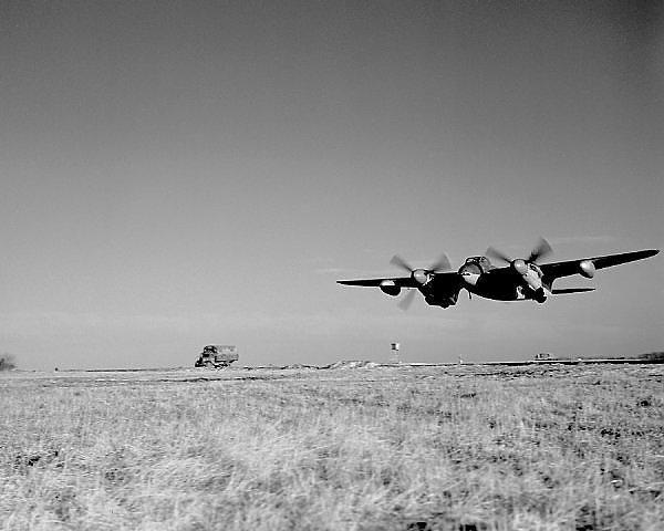 De Havilland Mosquito FB.VI taking off from RAF Banff, February 1945