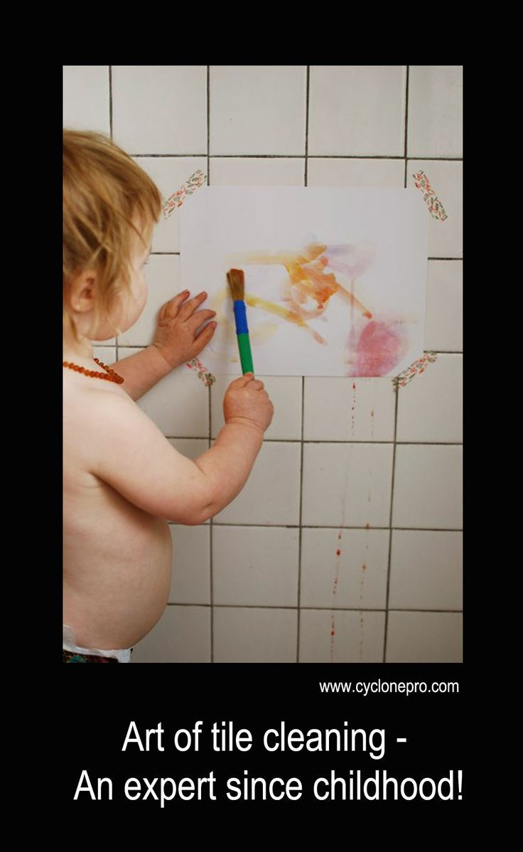 Art of tile cleaning -  An expert since childhood! Tile and grout will look like new after our cutting edge tile and grout cleaning process. feel good about selecting Cyclone Professional Cleaners to clean your home or office. http://www.cyclonepro.com/tile-and-grout-cleaning