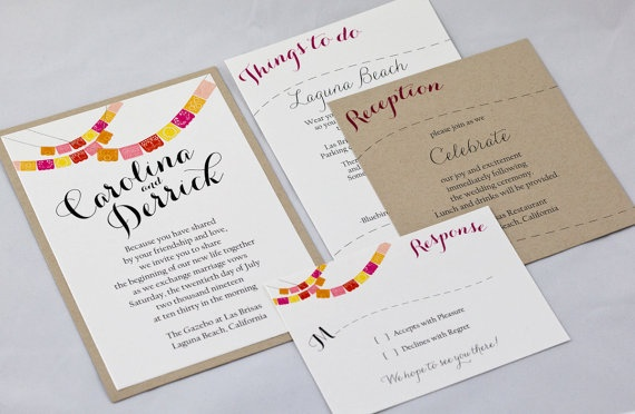 Kraft Wedding Invitation - Kraft Invitation. $100.00, via Etsy.