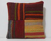kilim pillow designer decorative pillow 16x16 DECOLIC kilim pillow cover large floor cushion small throw pillow rustic throw pillow 15846