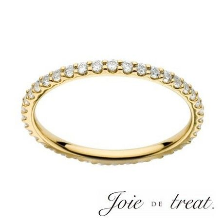 Joie de treat. ジョア ドゥ トリート:【ジョア ドゥ トリート】色鮮やかに輝くイエローゴールドのハーフエタニティリング。イエローゴールドのエンゲージリング・婚約指輪一覧❤