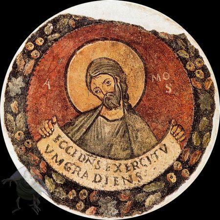 Scuola romana - Profeta Amos - affresco staccato - 1120-30 - Pinacoteca Vaticana