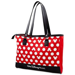 29.95  7. ship.   magicalearscollectibles.com   Disney Tote Bag - Minnie Mouse Polka Dot Tote - Red