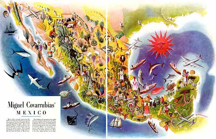 Miguel Covarrubias : Mexico map