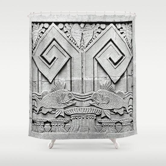 17 Best images about Art Deco Shower Curtains on Pinterest | Japan ...