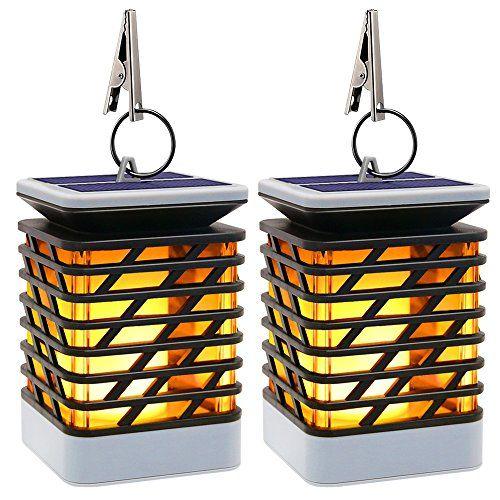 Solaire Lanterne Vacillante Exterieur Lampe Avec Flamme Nnm8v0w