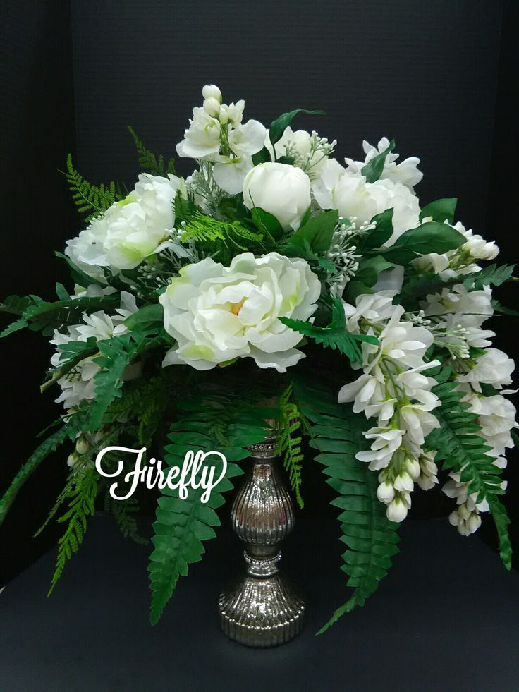 white peonies wedding floral centerpiece flowers pinterest. Black Bedroom Furniture Sets. Home Design Ideas
