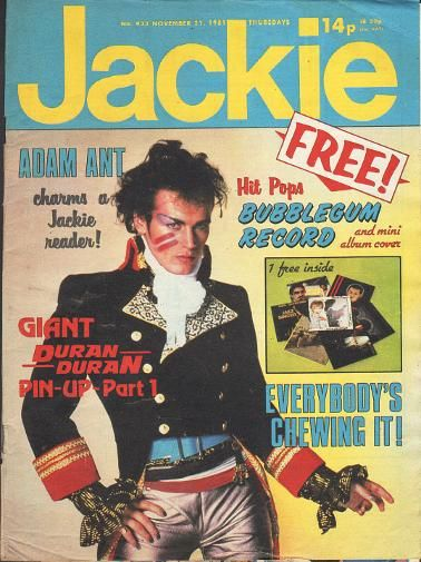 Jackie Magazine Nov 1981 ft. Adam Ant
