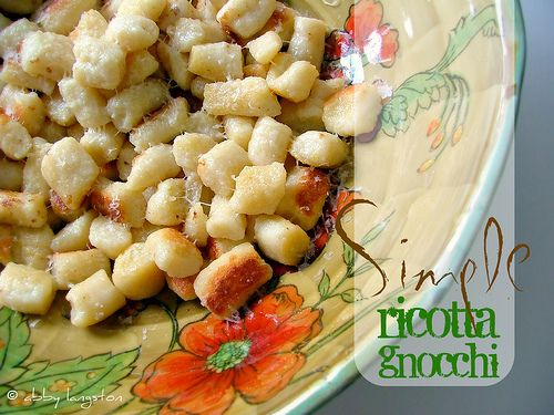 Simple Ricotta Gnocchi | GNOCCHI~Nonsence | Pinterest