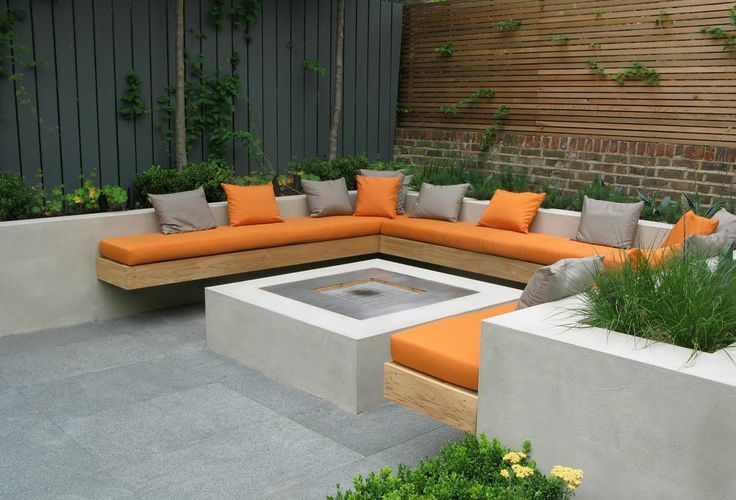 Built In Firepit Seating Outdoor Google Search MND