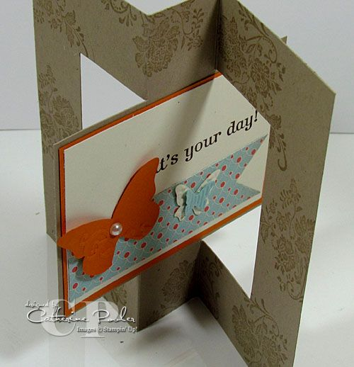 Stampin' Up! Sale-a-bration Favorites #7 in the Series: How to Make a Swing Card   Catherine Pooler