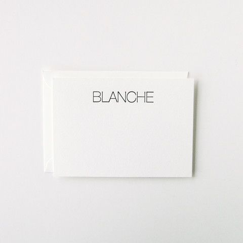Blanche - Personalized Stationery Set